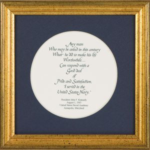 John F. Kennedy Quote - Framed