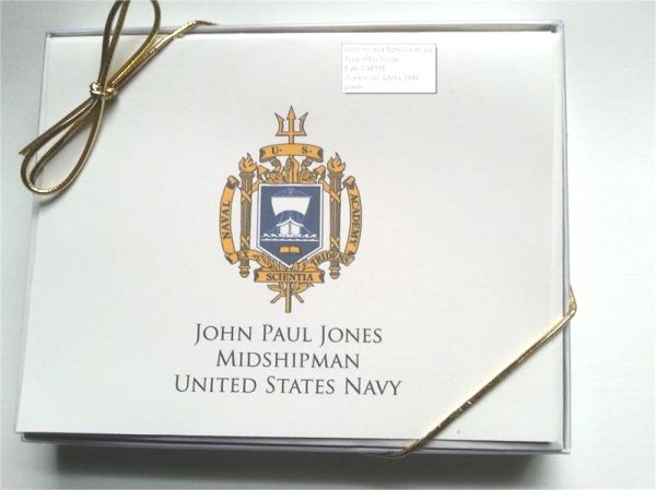 Midshipman Note Cards - Personalized