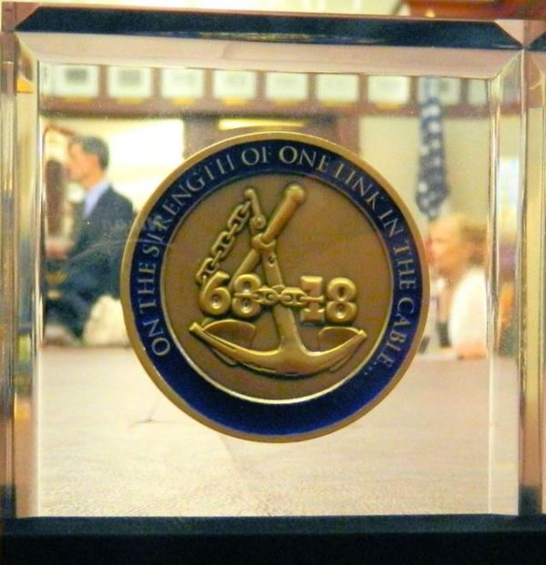 USNA Coin in Lucite